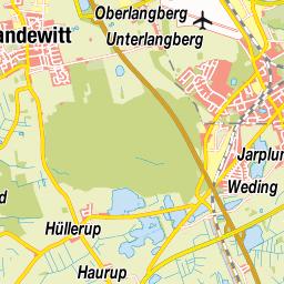 Bundesl303244nder Karte Ohne Namen.Flensburg Innenstadt Karte